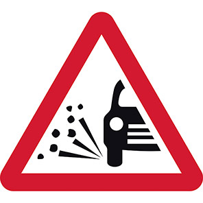 Loose Gravel Temporary Road Signs