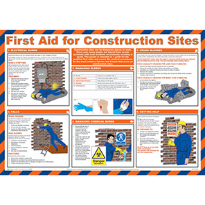 Spectrum Industrial  First Aid For Construction Sites Safety Poster