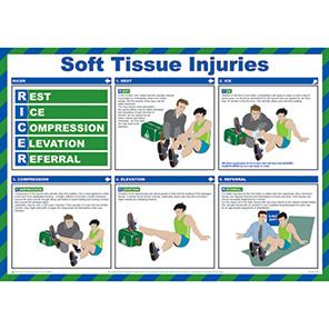 Spectrum Industrial Soft Tissue Injuries Safety Poster