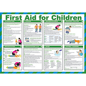 Spectrum Industrial First Aid for Children Safety Poster