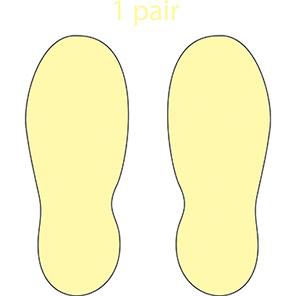Photoluminescent Self-Adhesive Slip-Resistant Footprints