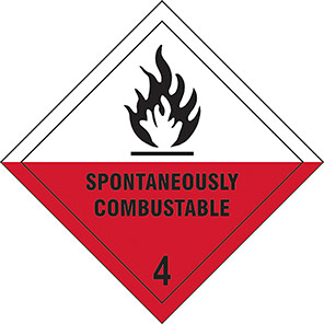 "Spectrum Industrial ""Spontaneously Combustible 4"" Hazard Warning Diamond"