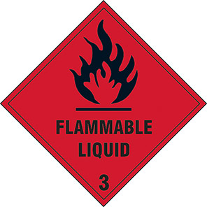 Gases And Flammable Substances Single Labels