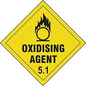 "Spectrum Industrial ""Oxidizing Agent 5.1"" Hazard Warning Diamond 100mm"
