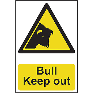 """Spectrum Industrial """"Bull Keep Out"""" Sign"""