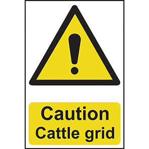 "Spectrum Industrial ""Caution Cattle Grid"" Sign"