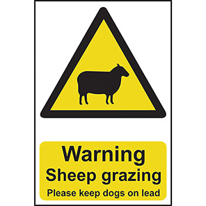 "Spectrum Industrial ""Warning Sheep Grazing"" Sign"