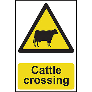 "Spectrum Industrial ""Cattle Crossing"" Sign"