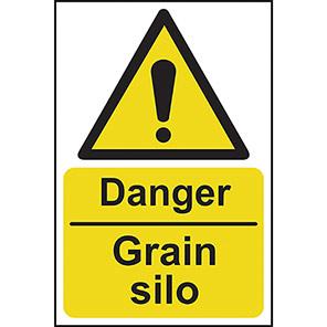 """Spectrum Industrial """"Danger Grain Silo"""" Sign"""