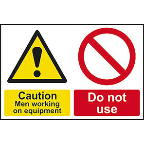 """Spectrum Industrial """"Caution Men Working""""/""""Do Not Use"""" Signs"""