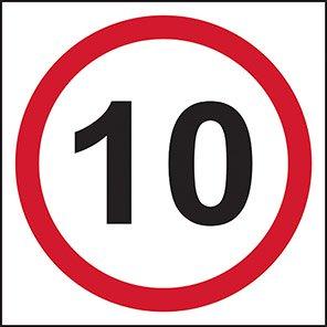 10 mph Traffic Road Signs