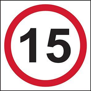 15 mph Traffic Road Signs