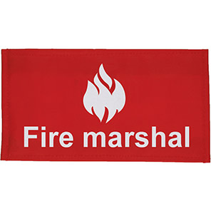 Centurion Red Fire Marshal Armband