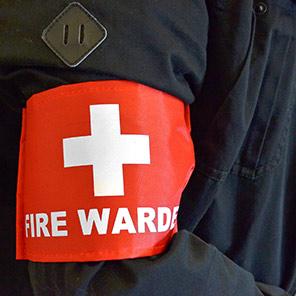 Centurion Red Fire Warden Armband