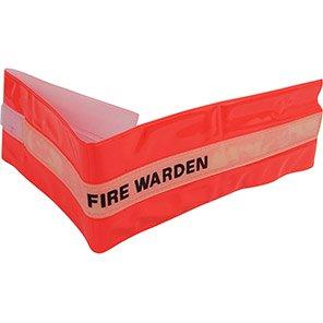 Centurion Hi-Vis Red Fire Warden Armband