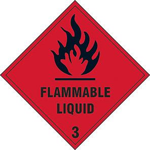 "Spectrum Industrial ""Flammable Liquid 3"" Hazard Warning Diamond 100mm"