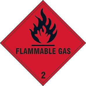 "Spectrum Industrial ""Flammable Liquid 2"" Hazard Warning Diamond 100mm"