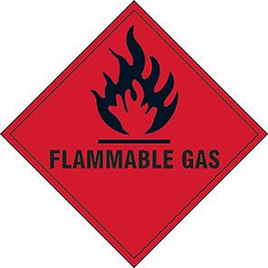 "Spectrum Industrial ""Flammable Gas"" Hazard Warning Diamond 200mm"