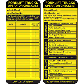 AssetTag MAX Yellow Forklift Insert Tag