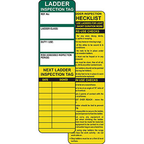 AssetTag Ladder Safety Insert Tag