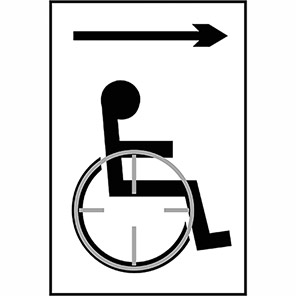 Taktyle Braille Disabled Arrow Right Signs