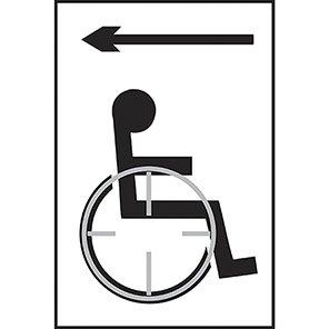Taktyle Braille Disabled Arrow Left Signs
