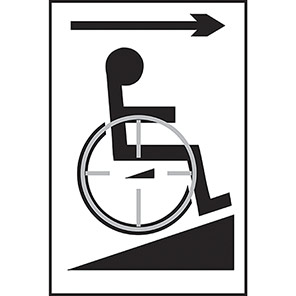 Taktyle Braille Disabled Ramp Arrow Right Signs