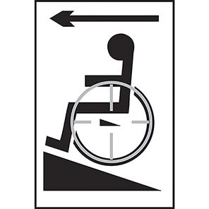 Taktyle Braille Disabled Ramp Arrow Left Signs