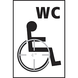 Taktyle Braille Disabled WC Signs
