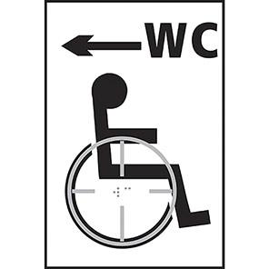 Taktyle Braile Disabled WC Arrow Left Signs