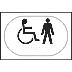 Taktyle Braille Disabled Gents Signs