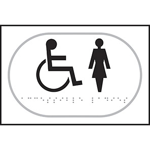 Taktyle Braille Disabled Ladies Signs