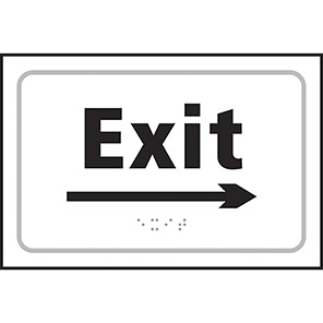 Taktyle Braille Exit Arrow Right Signs
