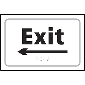 Taktyle Braille Exit Arrow Left Signs
