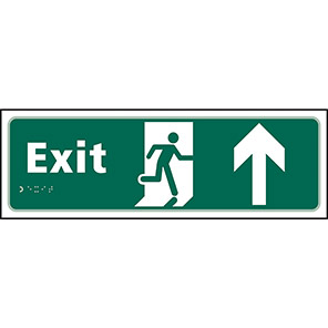 Taktyle Braille Fire Exit Up Signs
