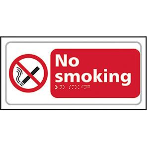 """Spectrum Industrial """"No Smoking"""" Taktyle Braille Sign"""