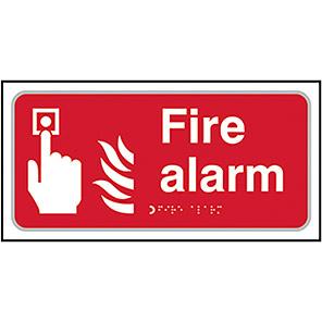 Taktyle Braille Fire Alarm Signs