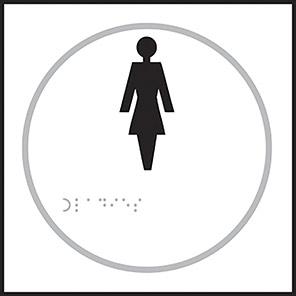 Taktyle Braille Ladies Sign