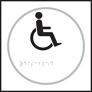 Taktyle Braille Disabled Sign
