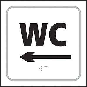 Taktyle Braille WC Left Arrow Sign