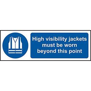 """Spectrum Industrial Self-Adhesive PVC """"Hi-Vis Jacket Must Be Worn…"""" Sign"""