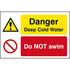 Quarry Sign Danger Deep/Cold Water