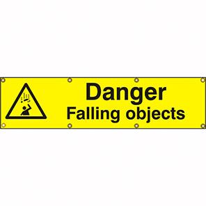 "Spectrum Industrial ""Danger Falling Objects"" Banner Sign"
