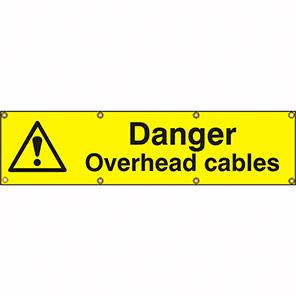 "Spectrum Industrial ""Danger Overhead Cables"" Sign"