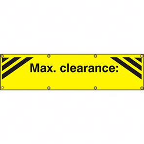 """Spectrum Industrial """"Max Clearance"""" Banner"""