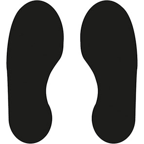 Spectrum Industrial Black Footprints Warehouse Floor Graphic (Pack of 10)