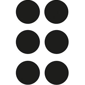 Spectrum Industrial Black Circular Warehouse Floor Graphic (Pack of 100)