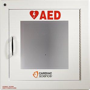 Cardiac Science Powerheart Alarmed Defibrillator Cabinet