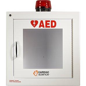 Cardiac Science Powerheart Alarmed Defibrillator Cabinet with Strobe Light