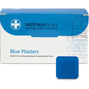 Dependaplast 40mm Detectable Catering Plasters (Box of 100)